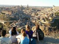 Students look out over Toledo