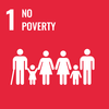 Text: 1 No Poverty, Icon: Cartoons of people