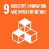 Text: 9 Industry, Innovation and Infrastructure, Icon: Boxes