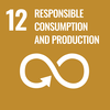 Text 12: Responsible Consumption and Production, Icon: looping arrow